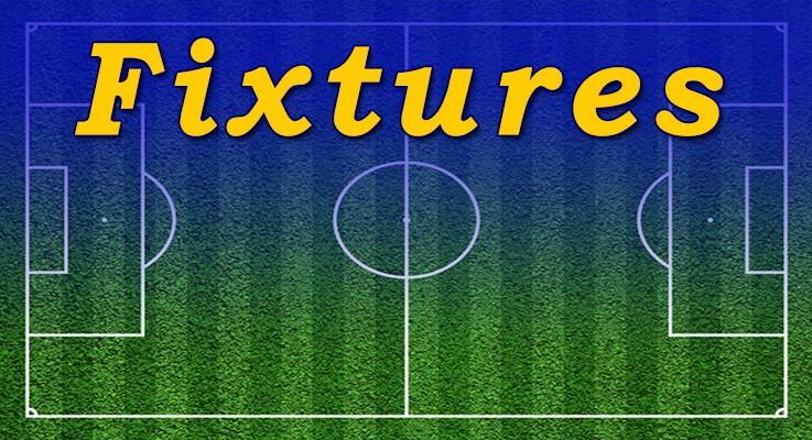 Fixtures 2nd Sept