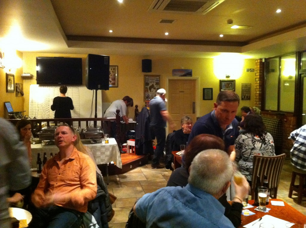 Section of the large attendnace at the Table Quiz on 6th Feb 2015