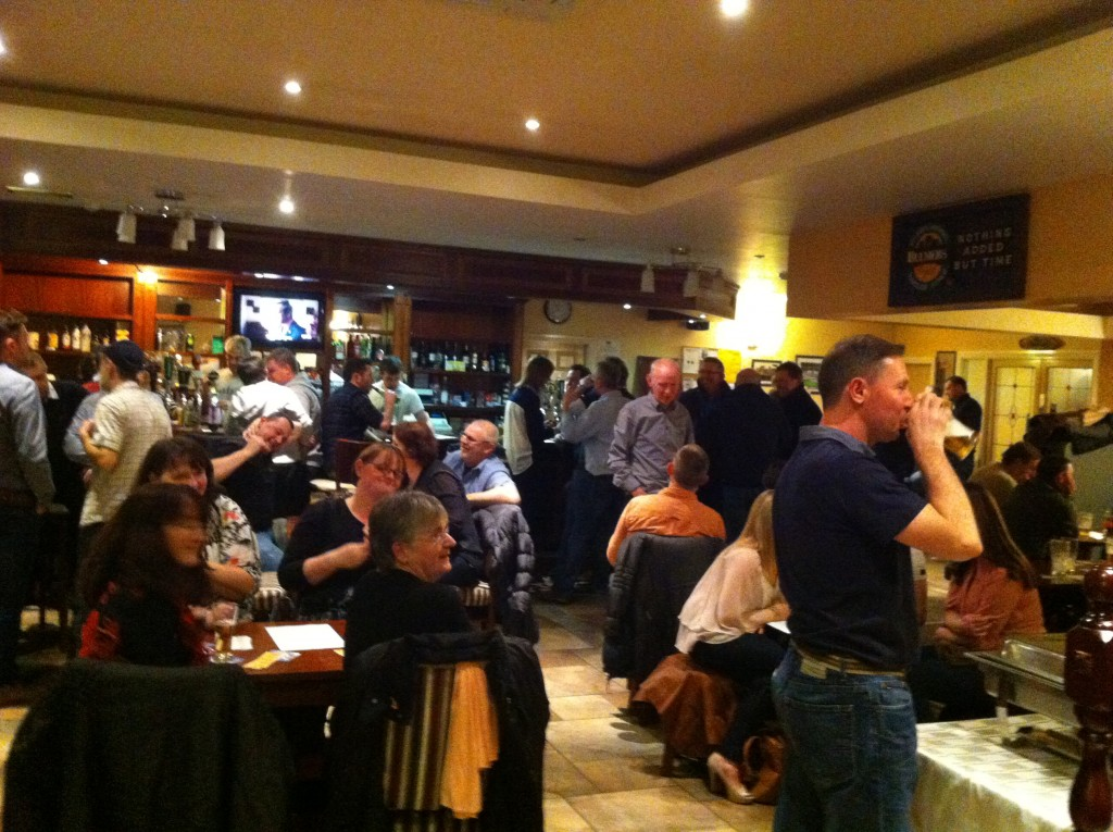 Section of the large attendance at the Table Quiz on 6th Feb 2015
