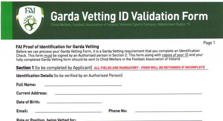 FAI/Garda vetting