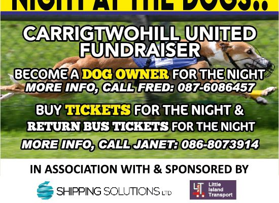 Night at the dogs bus is SOLD OUT